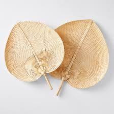 abanico de bambu