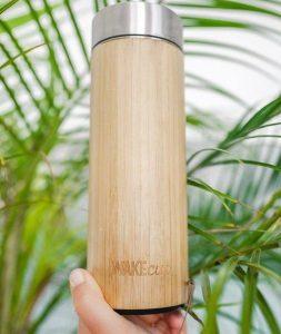 botella de bambu