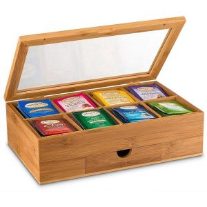 caja de te de bambu
