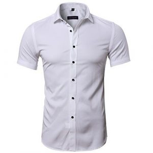camisa de bambu blanca