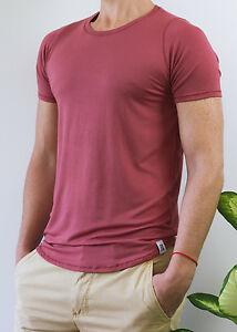 camiseta de bambu de hombre roja