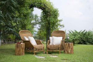 sillas de bambu para terraza