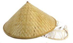 sombrero chino de bambu